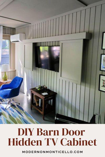 barn door tv cabinet