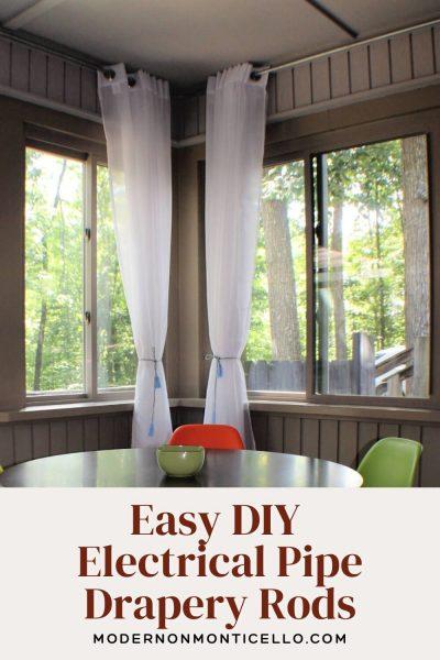 easy diy drapery rods