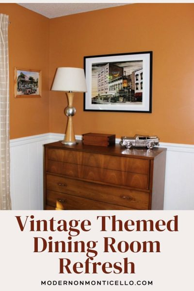 vintage themed dining room